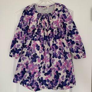 Girls long sleeve purple dress, good condition